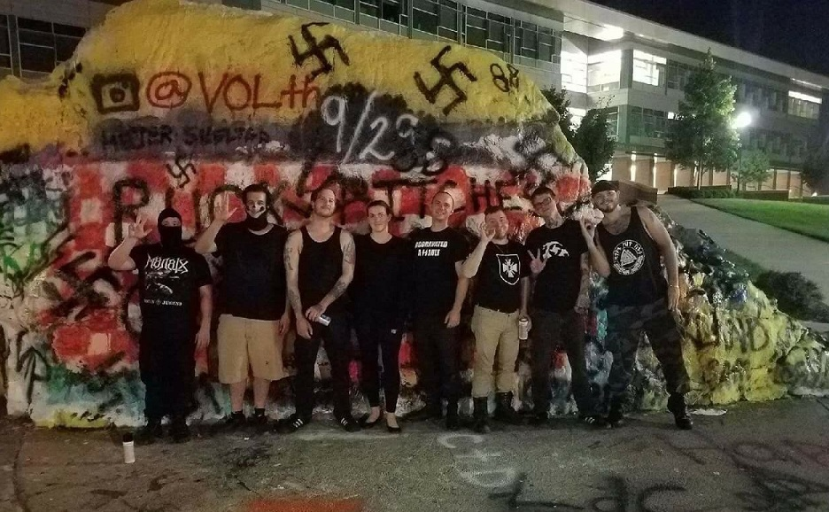 pciture of nazi in front of the knoxville rock