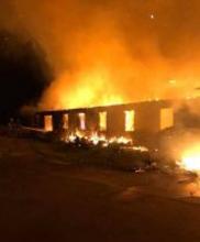 picture of highlander center burning